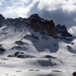 Stock Photo: Panorama of snowy winter mountains