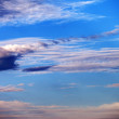 Sky with clouds at multicolored sunset  — Stock Photo #33515513