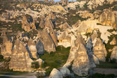 View of Cappadocia valley at sunset — Stock Photo