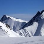 Ski piste at nice winter day — 图库照片