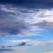 Sky with clouds in nice summer evening — Stock Photo