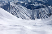 View on snowy off piste slope — Stock Photo