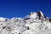 Mount Kazbek at sun winter day — Stockfoto