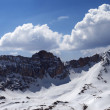 Panorama of snow mountains in sunny day — Stock Photo #35822231