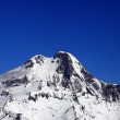 Top of Mount Kazbek at nice winter day — Stock Photo