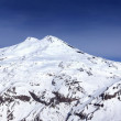 Panoramic view on mount Elbrus and off-piste slope — Stock Photo