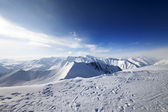 Snowy mountains at nice day — Foto Stock
