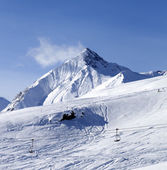 View on off piste ski slope — Stock Photo
