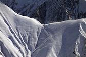 Snowy mountain pass — Foto Stock