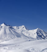 Winter mountains, ski resort — Stock Photo
