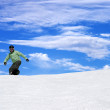 Snowboarder on ski slope — Stock Photo #39785251