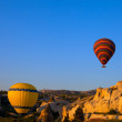 Hot air balloons in early morning — Stock Photo
