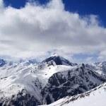 Ski slope at sun day — Stock Photo #48143547