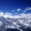 Snowy mountains at sun day — Stock Photo #49648675