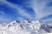 Winter snowy mountains — Stock Photo