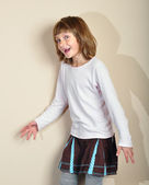 Playful naughty child — Stock Photo