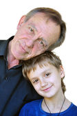 Matured father with son — Stock Photo