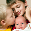 Постер, плакат: Two brothers and baby sister