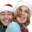 Happy brother and sister celebrating Christmas — Stock Photo #23716441