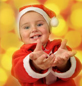 Christmas portrait of a toddler child — Stock Photo