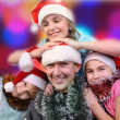Christmas portrait of happy children — Stock Photo
