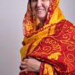 Stock Photo: Senior woman in traditional Indian clothing and jeweleries