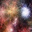 Abstract fire works backgrounds. - Stock Photo