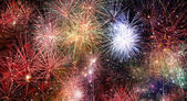 Abstract fire works backgrounds. — Photo