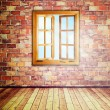 Abstract interior with opened window — Stock Photo