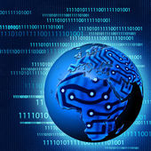 Globalen technologischem fortschritt. abstrakt — Stockfoto