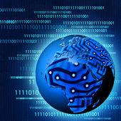 Progreso tecnológico mundial. fondos abstractos — Foto de Stock