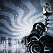 Abstract DJ backgrounds with copy-space for your design — Stock Photo