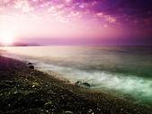 Beauty sunset on the sea. — Stock Photo