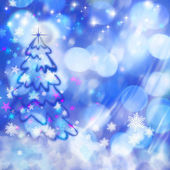 Xmas backgrounds with beauty bokeh for your design — Stock Photo