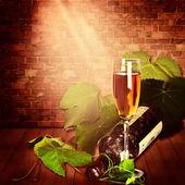 şaraphane tasarımınız için kopya alanı ile natürmort — Stok fotoğraf