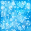Abstract xmas backgrounds with snowflakes and beauty bokeh — Stock Photo #16877437