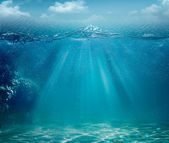您设计的的抽象海和海洋背景 — 图库照片