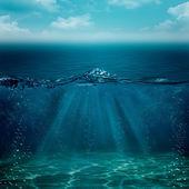 您设计的的抽象水下背景 — 图库照片