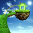Stock Photo: Funny Green House.