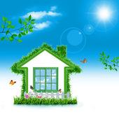 Casa verde. — Foto de Stock
