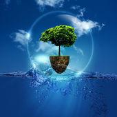 Mundo dentro de la burbuja. — Foto de Stock
