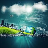 Ecosistema abstractos fondos — Foto de Stock