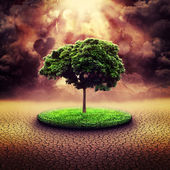 Explosion nucléaire. fonds dramatiques résumé pour votre conception — Photo