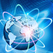 Orbit of comminications. Abstract technology backgrounds — Stock Photo