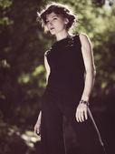 Retro revival. Female portrait for your design — Stock Photo
