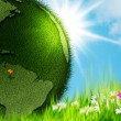 Green Earth. Abstract environmental backgrounds — Stockfoto