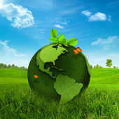 Green Earth. Abstract environmental backgrounds — Stock Photo