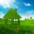 Eco House. Abstract environmental backgrounds — Stock Photo
