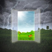 Door to the Summer, abstract environmental backgrounds — Stock Photo