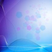 Абстрактный фон с светящиеся линии и Боке для вашего назн — Стоковое фото